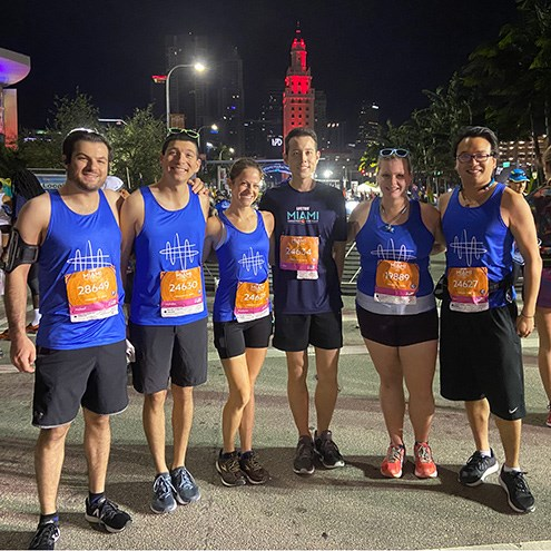 Team NWS runs 2020 Miami Marathon