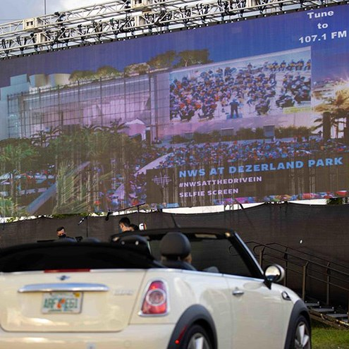 WALLCAST® concert experience goes to the Drive-In